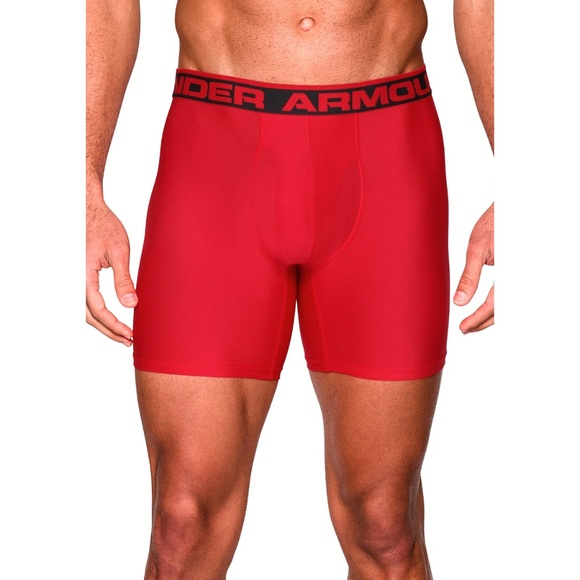 Under Armour O Series 6/'/' BoxerJock 2 Pack Men/'s Underwear Black//Red 3XL 1282508